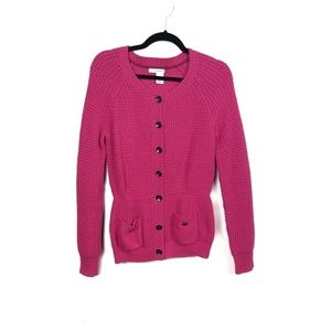 DKNY Jeans Knit Button Sweater Peacoat Cardigan